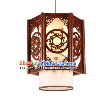 Traditional Chinese Painted Lotus Hanging Palace Lanterns Handmade Lantern Ancient Ceiling Lamp
