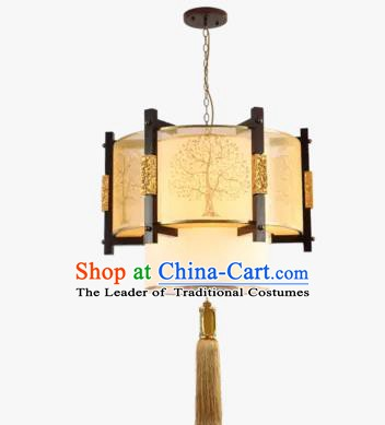 Traditional Chinese Round Hanging Palace Lanterns Handmade Lantern Ancient Ceiling Lamp
