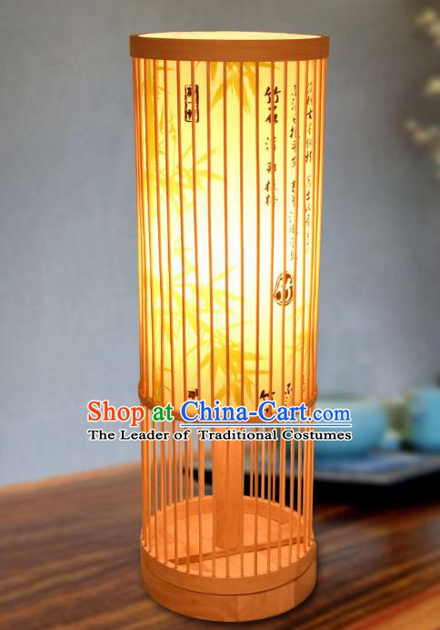 Traditional China Bamboo Art Lanterns Handmade Lantern Ancient Desk Lamp