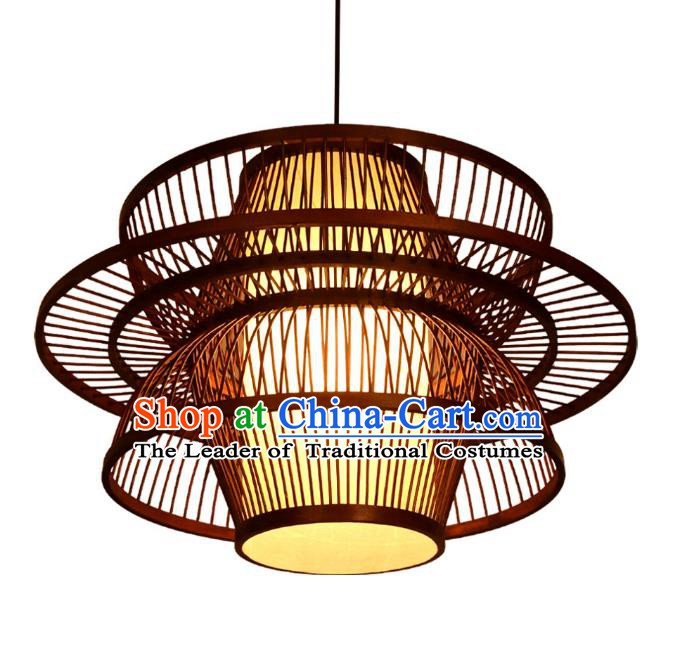 Traditional Asian Chinese Straw Plaited Lanterns Handmade Hanging Ceiling Lantern Ancient Lamp