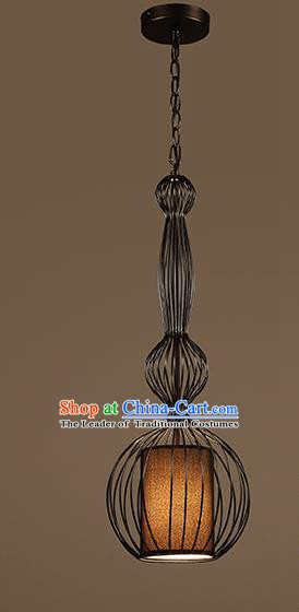 Traditional Chinese Iron Birdcage Ceiling Lanterns Ancient Handmade Hanging Lantern Ancient Lamp