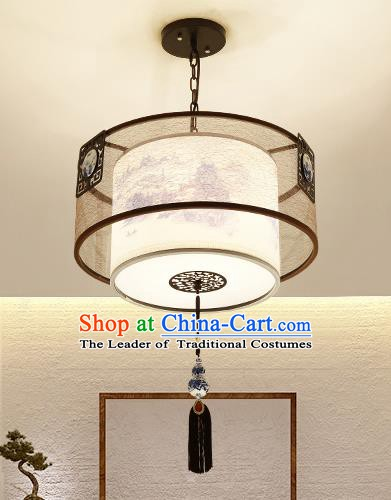 Traditional Handmade Chinese Painting Hanging Lanterns Ancient Ceiling Lantern Ancient Lamp