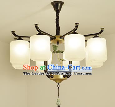 Traditional Handmade Chinese Palace Lanterns Ancient Eight-Lights Ceiling Lantern Ancient Lamp