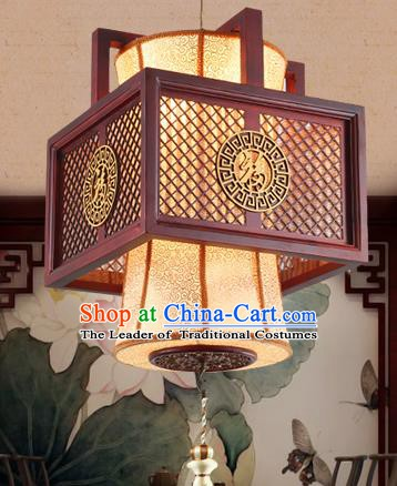 Traditional Chinese Handmade Wood Carving Lantern Asian Ceiling Lanterns Ancient Lantern