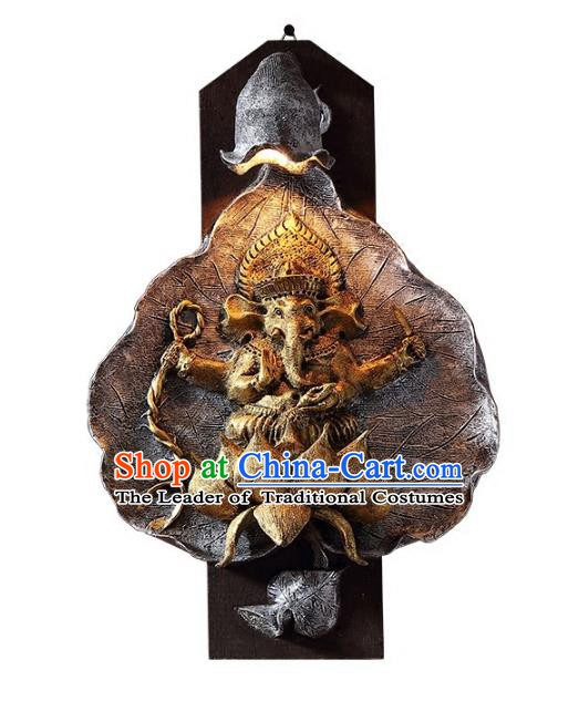 Handmade Traditional Thailand Elephant Lantern Asian Wall Lanterns Religion Lantern