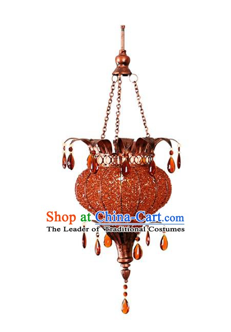 Handmade Traditional Thailand Hanging Lantern Asian Ceiling Lanterns Religion Lantern