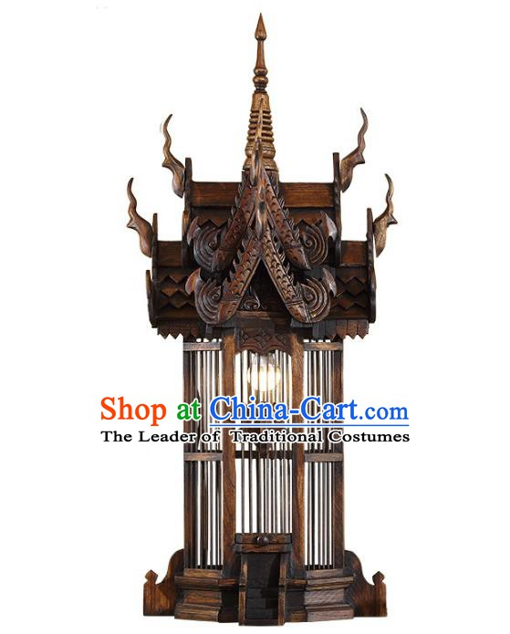 Handmade Traditional Thailand Wood Wall Lantern Asian Lanterns Religion Lantern