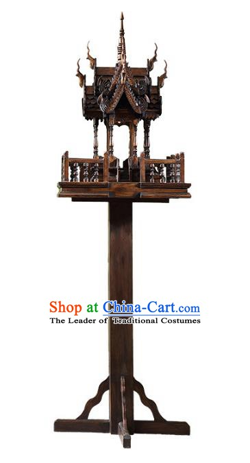 Handmade Thailand Floor Lantern Asian Lanterns Religion Wood Lantern Traditional Lamp