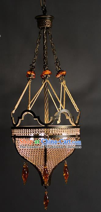 Handmade Traditional Thailand Hanging Lantern Asian Iron Ceiling Lanterns Religion Lantern