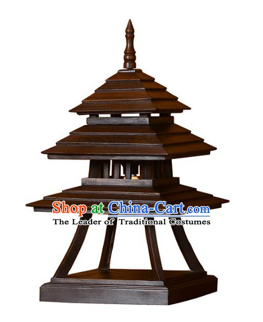 Thailand Handmade Lantern Asian Wood Lanterns Desk Lantern Traditional Lamp