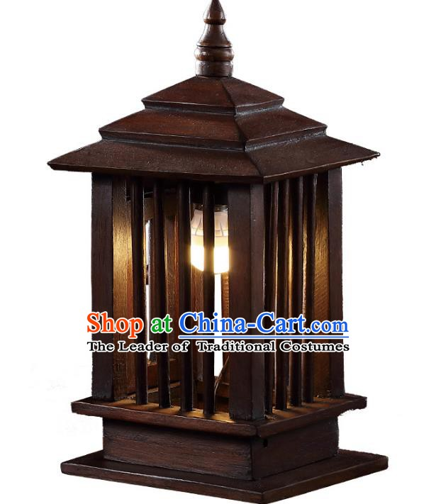 Thailand Handmade Desk Lantern Asian Wood Lanterns Lantern Traditional Lamp