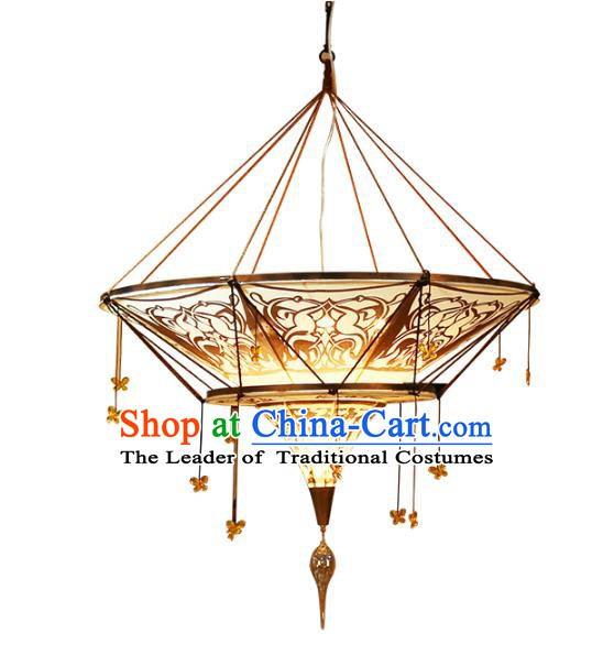 Traditional Thailand Handmade Hanging Lantern Southeast Asian Ceiling Lanterns Religion Lantern