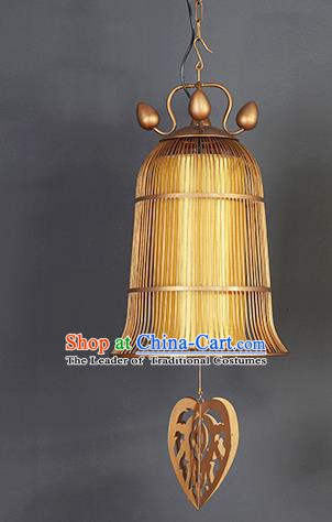 Traditional Thailand Handmade Yellow Hanging Lantern Southeast Asian Lanterns Religion Lantern