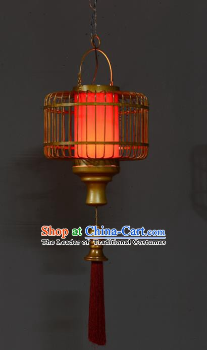 Traditional Thailand Handmade Iron Red Hanging Lantern Southeast Asian Lanterns Religion Lantern