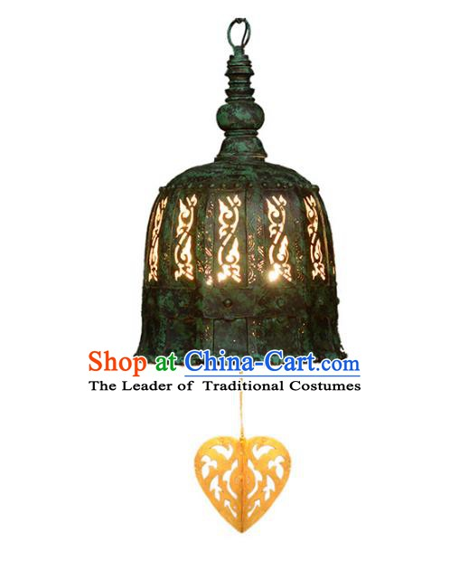 Traditional Thailand Handmade Carving Iron Hanging Lantern Southeast Asian Lanterns Religion Lantern