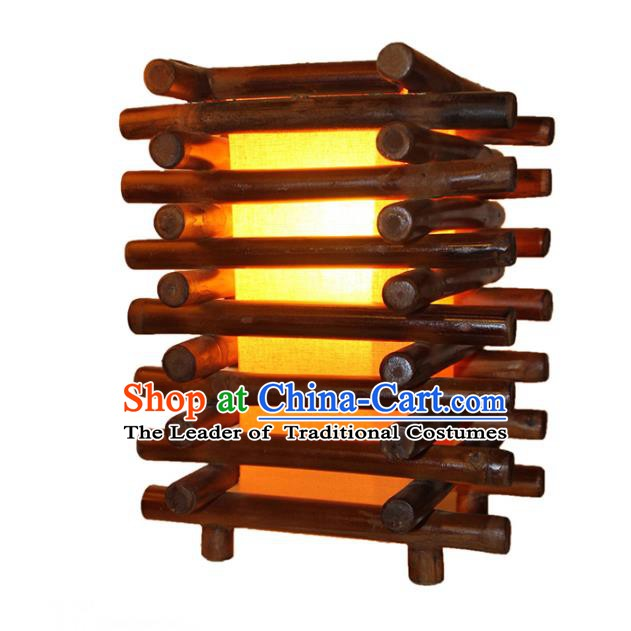 Thailand Handmade Bamboo Desk Lantern Southeast Asian Lanterns Lantern Traditional Lamp