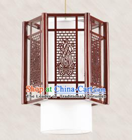 Traditional Chinese Handmade Lantern Wood Carving Hanging Lantern Asian Palace Ceiling Lanterns Ancient Lantern