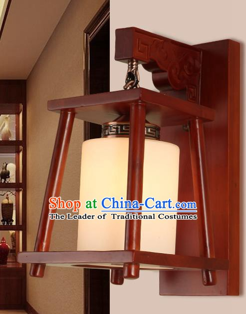 China Handmade Palace Lanterns Wall Lantern Ancient Wood Lanterns Traditional Lamp