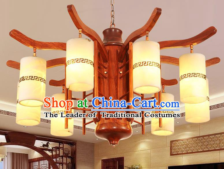 Traditional Chinese Handmade Redwood Hanging Lantern Wood Palace Lanterns Ancient Lamp