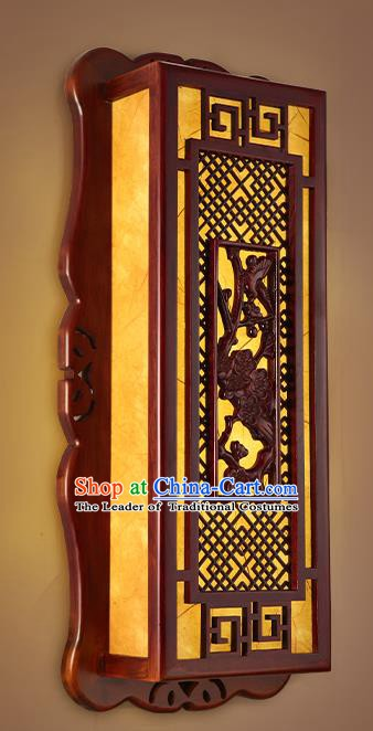 China Handmade Palace Lanterns Wall Lantern Ancient Wood Carving Plum Blossom Lanterns Traditional Lamp