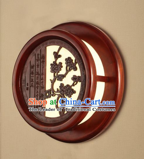 China Handmade Palace Lanterns Plum Blossom Wall Lantern Ancient Wood Lanterns Traditional Lamp