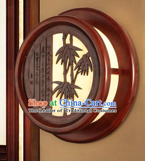 China Handmade Palace Lanterns Bamboo Wall Lantern Ancient Wood Lanterns Traditional Lamp