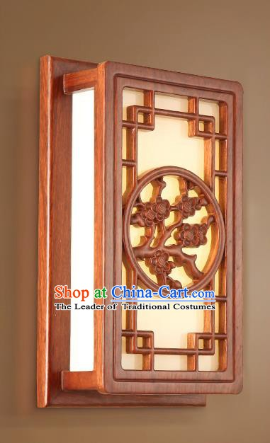 China Handmade Marble Lanterns Palace Wall Lantern Ancient Wood Carving Plum Blossom Lanterns Traditional Lamp