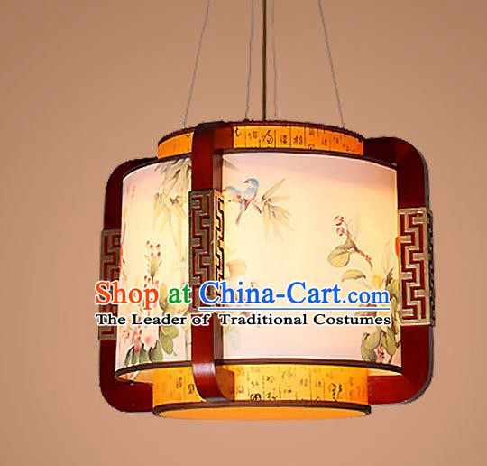 Traditional Chinese Handmade Palace Lantern Wood Hanging Lanterns Ancient Lamp