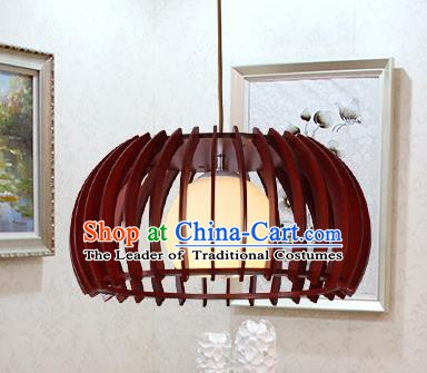 Traditional Chinese Handmade Palace Hanging Lantern Wood Ceiling Lanterns Ancient Lamp
