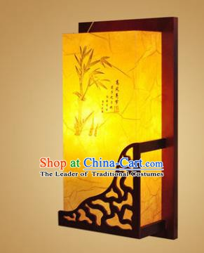 China Handmade Wood Wall Lanterns Painting Bamboo Palace Lantern Ancient Lanterns Traditional Lamp