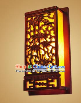China Handmade Wood Wall Lanterns Carving Bamboo Palace Lantern Ancient Lanterns Traditional Lamp