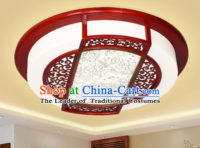 Traditional Chinese Handmade Lantern Palace Ceiling Lanterns Ancient Wood Lamp