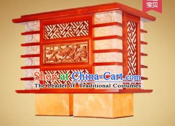Traditional Chinese Handmade Palace Lantern New Year Wood Carving Hanging Lanterns Ancient Lamp