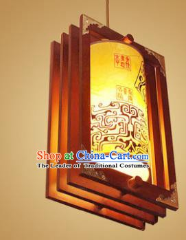 Traditional Chinese Handmade Painted Palace Lantern New Year Hanging Lanterns Ancient Wood Lamp
