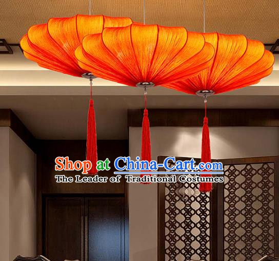 Traditional Chinese Red Palace Lantern Handmade Hanging Lanterns Ancient Fabrics Lamp