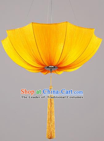 Traditional Chinese Orange Umbrella Palace Lantern Handmade Ceiling Lanterns Ancient Lamp
