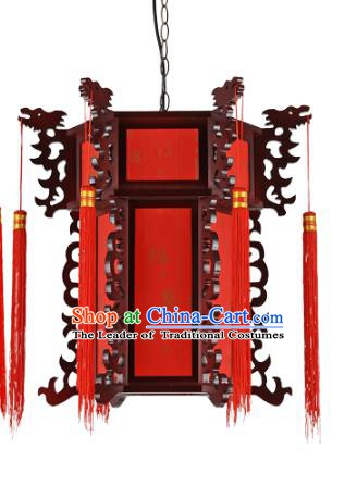 Top Grade Handmade Red Palace Lanterns Traditional Chinese Lantern Ancient Ceiling Lanterns