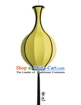 Top Grade Handmade Yellow Vase Lanterns Traditional Chinese Hanging Palace Lantern Ancient Lanterns