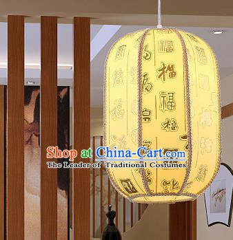 Top Grade Handmade Yellow Sheepskin Lanterns Traditional Chinese Hanging Palace Lantern Ancient Lanterns