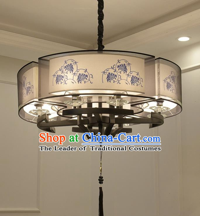 China Handmade Ceiling Lanterns Traditional Chinese Painted Flowers Palace Lantern Ancient Lanterns