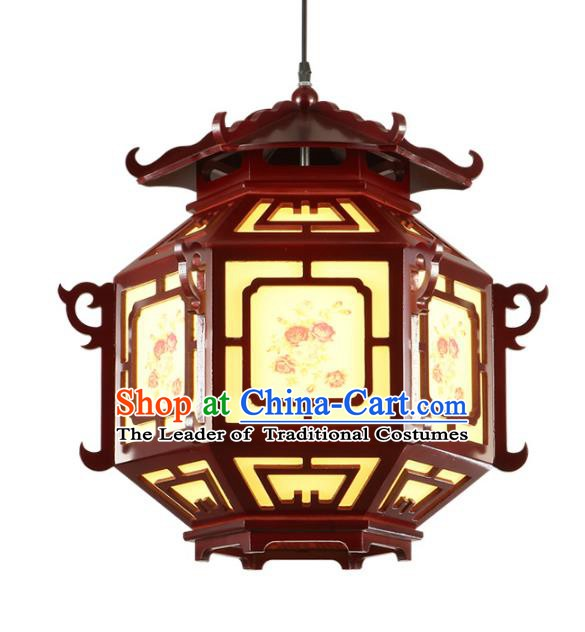 Top Grade Handmade Wood Palace Lanterns Traditional Chinese New Year Lantern Ancient Ceiling Lanterns