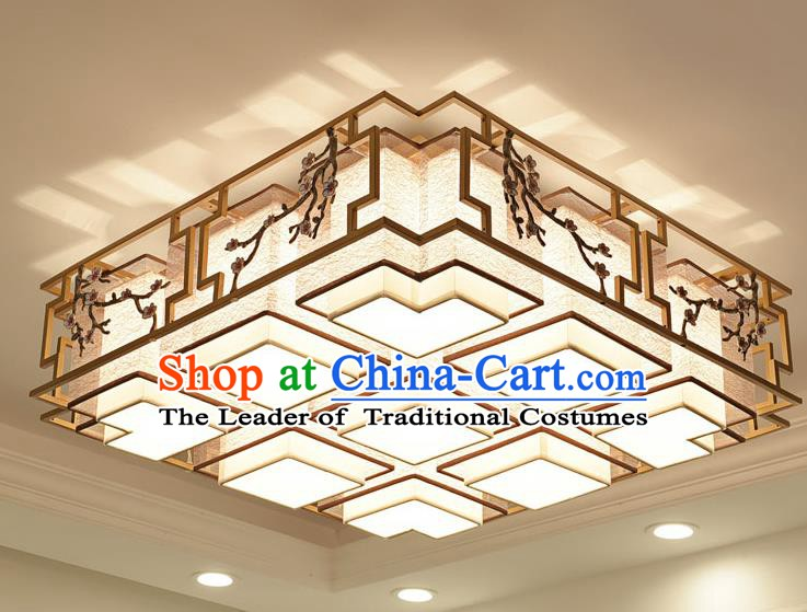 China Handmade Ceiling Lanterns Traditional Chinese Embroidered Nine-Lights Palace Lantern Ancient Lanterns