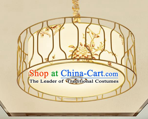 Top Grade Handmade Painting Flowers Ceiling Lanterns Traditional Chinese Palace Lantern Ancient Lanterns