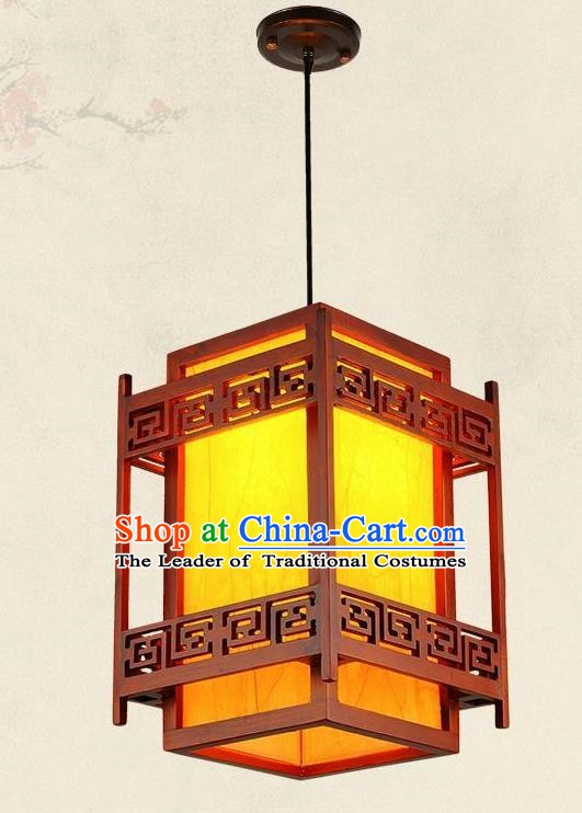 Top Grade Handmade Wood Hanging Palace Lanterns Traditional Chinese New Year Lantern Ancient Ceiling Lanterns