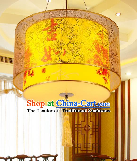 Top Grade Handmade Painted Lanterns Traditional Chinese Palace Lantern Ancient Ceiling Lanterns