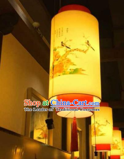 Top Grade Handmade Painting Flowers Birds Lanterns Traditional Chinese Palace Lantern Ancient Ceiling Lanterns