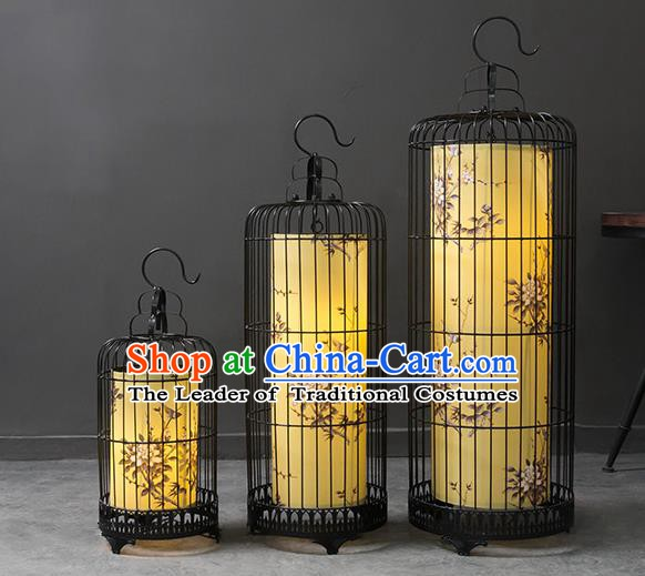Top Grade Handmade Painting Birdcage Lanterns Traditional Chinese Palace Lantern Ancient Ceiling Lanterns