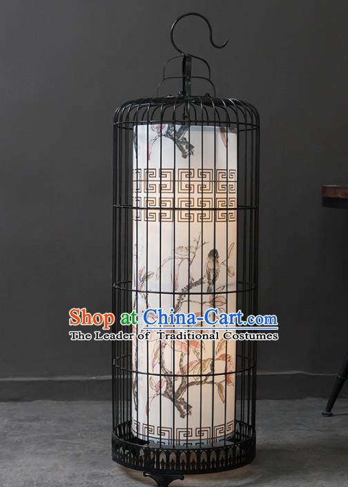 Top Grade Handmade Painting Flowers Birdcage Lanterns Traditional Chinese Palace Lantern Ancient Ceiling Lanterns