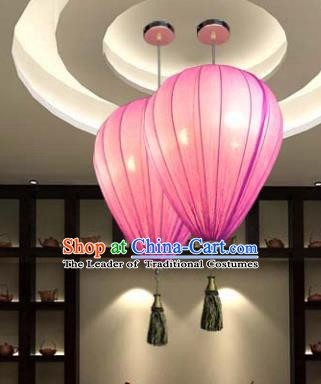 Top Grade Handmade Pink Hanging Lanterns Traditional Chinese Ceiling Palace Lantern Ancient Lanterns