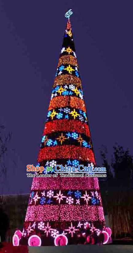 Handmade Christmas Tree Lamplight Decorations LED Lamp Lanterns Bulb Lights